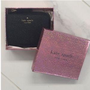 Kate spade glitter bifold wallet